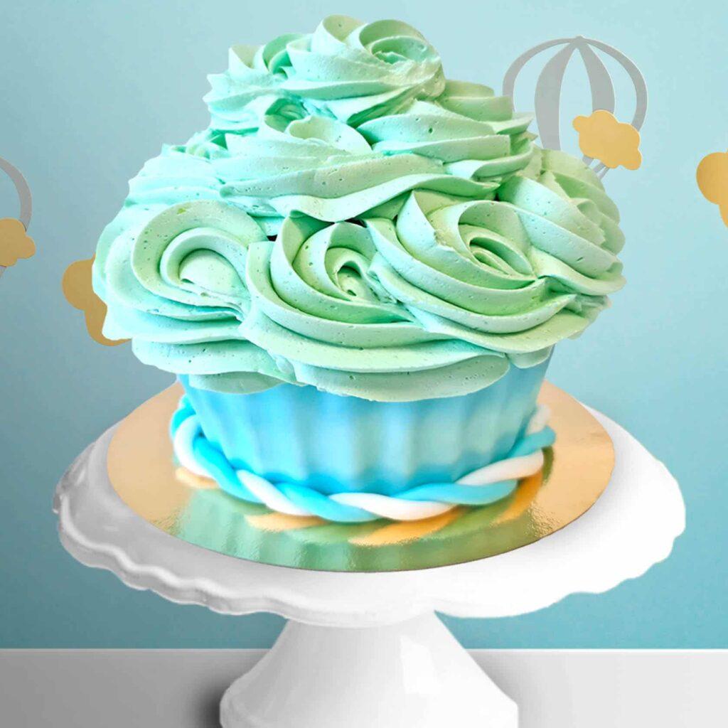 Cake smash cupcake blauw 1