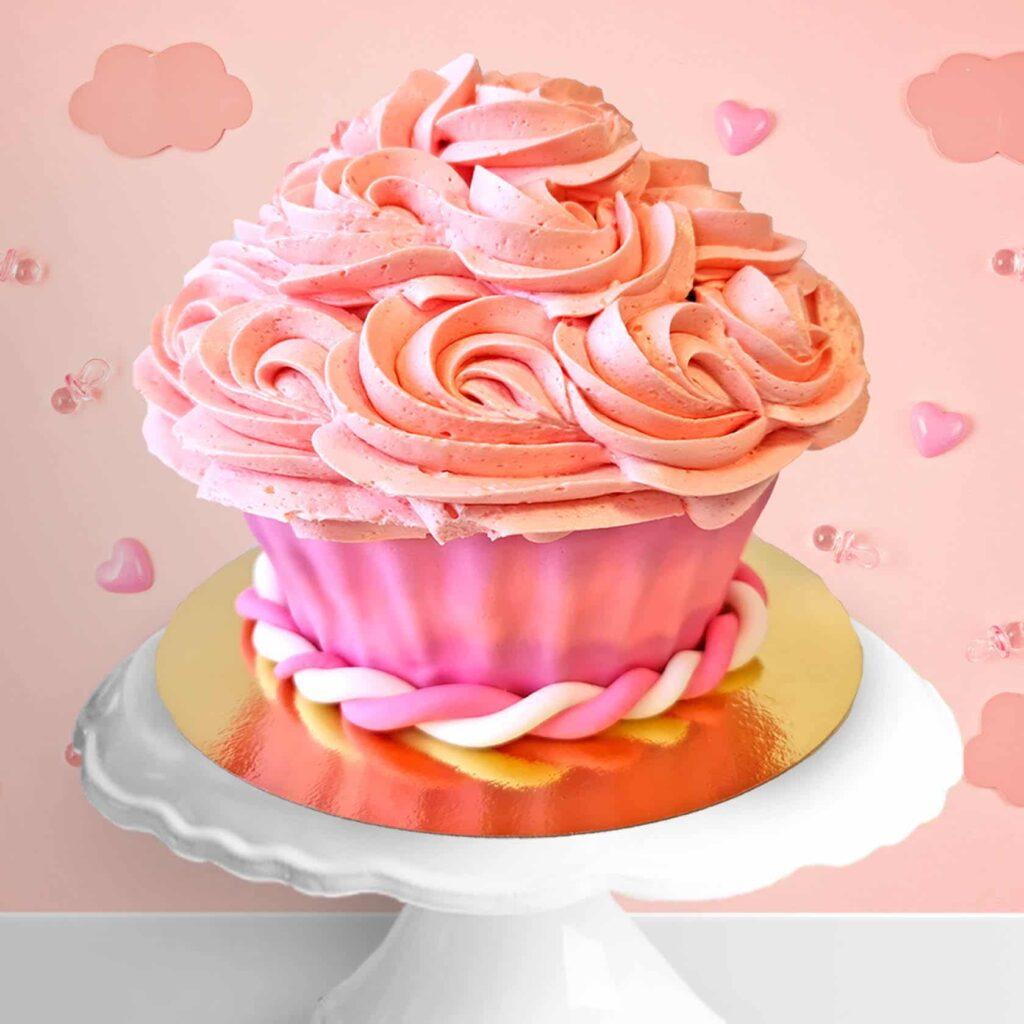 Cake smash cupcake roze 1