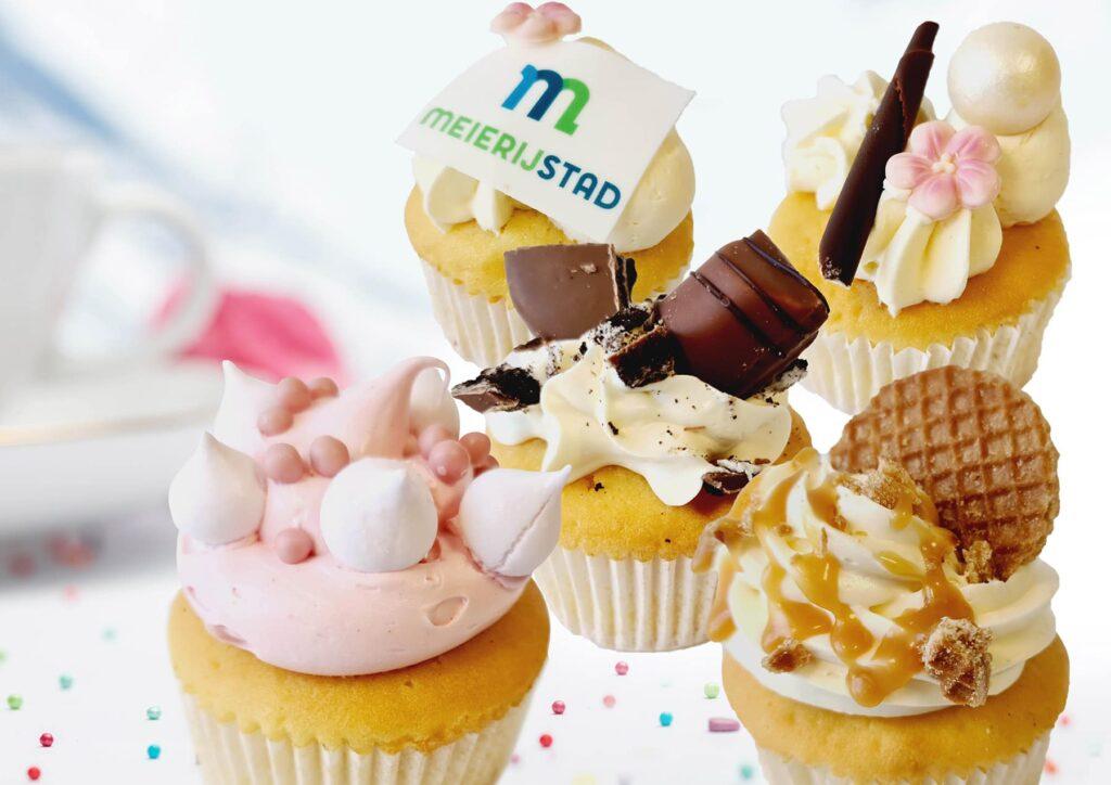 Mix van cupcakes
